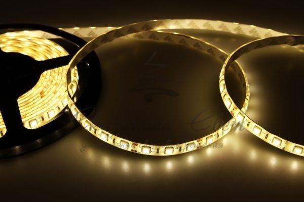 LED лента силикон, 10мм, IP65, SMD 5050, 60 LED/m, 12V, тепло-белая, катушка 5 м