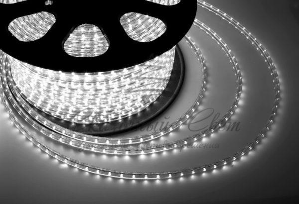 LED лента 220В, 13*8 мм, IP65, SMD 5050, 60 LED/m Белая, бухта 100 м