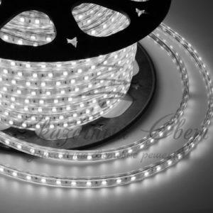 LED лента 220В, 10*7 мм, IP65, SMD 2835, 60 LED/m Белая, бухта 100 м