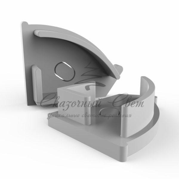 Заглушка торцевая для профиля углового (комплект 2шт)