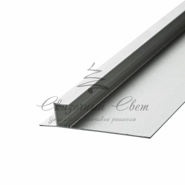 Алюминиевый профиль-плинтус  (прямой)