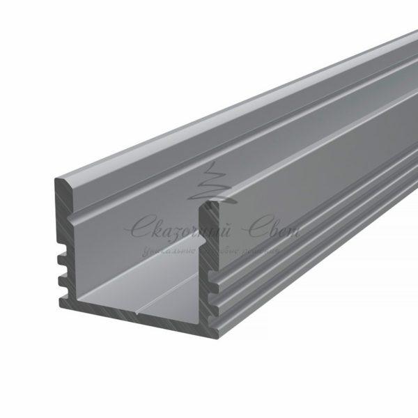 Профиль накладной алюминиевый 1612-2 REXANT, 2м (упаковка 20шт.)