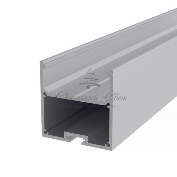 Профиль накладной алюминиевый 5050-2 REXANT, 2м (упаковка 3шт.)