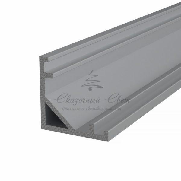 Профиль угловой алюминиевый 1616-2 REXANT, 2м (упаковка 20шт.)