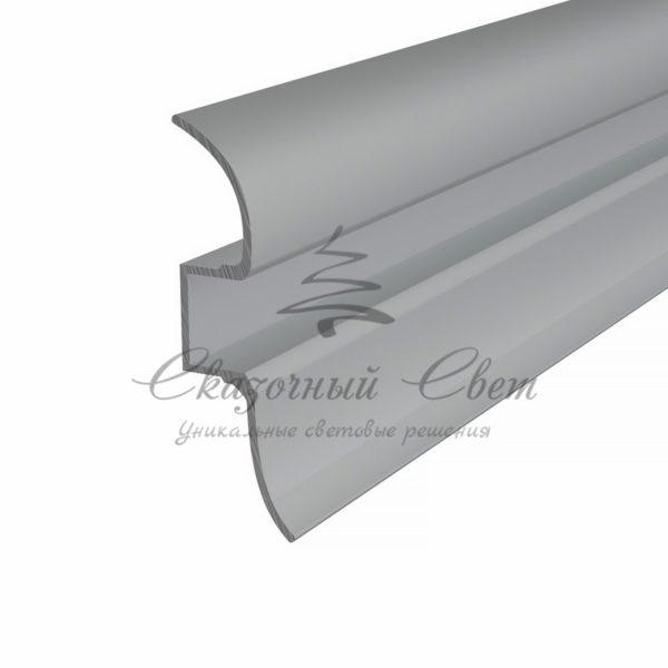 Профиль плинтус алюминиевый 5016-2 REXANT, 2м