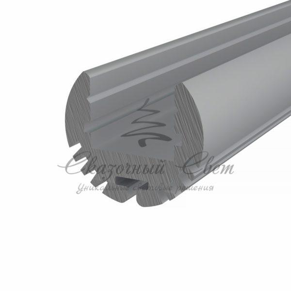 Профиль круглый алюминиевый 17-2 REXANT, 2м
