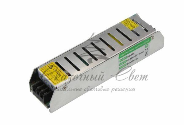 Источник питания  компактный 12V, 60W с разъемами под винт, без влагозащиты (IP23)
