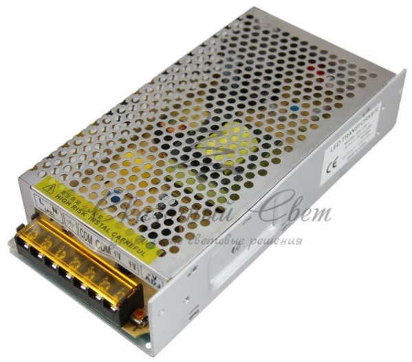 Источник питания 220V AC/12V DC, 8,3A, 100W с разъёмами под винт, без влагозащиты (IP23)