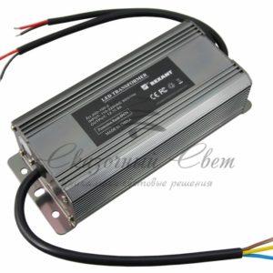 Источник питания 110-220V AC/12V DC, 8,3А, 100W с проводами, влагозащищенный (IP67)