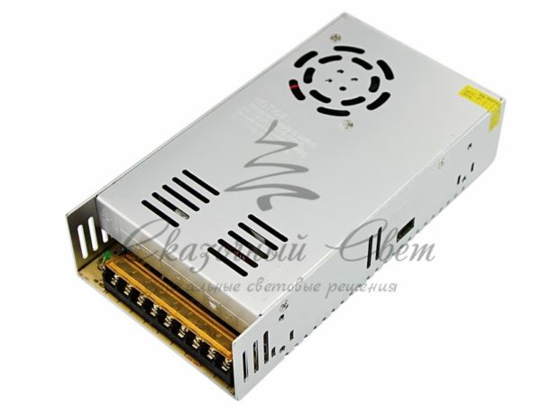 Источник питания Slim 12V DC, 34A, 400W с разъёмами под винт, без влагозащиты (IP23)  REXANT