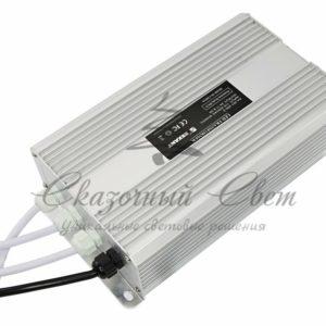 Источник питания тонкий 220V AC/24V DC, 8,33А, 200W с проводами, влагозащищенный (IP67)