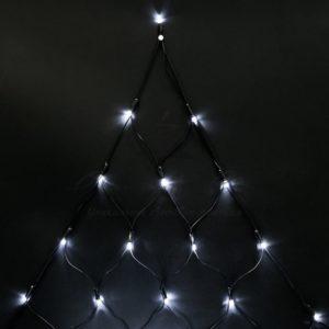 Гирлянда «Сеть» 2х2х1.5м,  свечение с динамикой, черный ПВХ, 136 LED, 230 В, цвет: Белый
