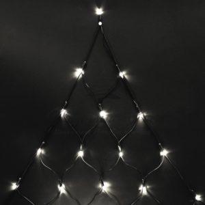 Гирлянда «Сеть» 2х2х1.5м,  свечение с динамикой, черный ПВХ, 136 LED, 230 В, цвет: Тёплый белый