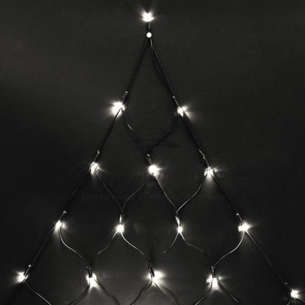 """Гирлянда """"Сеть"""" 2х2х1.5м,  свечение с динамикой, черный ПВХ, 136 LED, 230 В, цвет: Тёплый белый"""