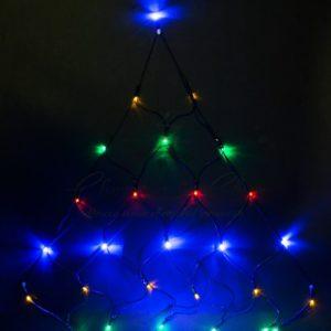 Гирлянда «Сеть» 2х2х1.5м,  свечение с динамикой, черный ПВХ, 136 LED, 230 В, цвет: Мультиколор