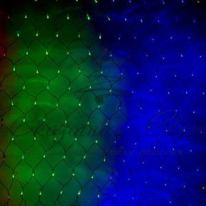 Гирлянда «Сеть» 2х1,5м, черный ПВХ, 240 LED Мультиколор