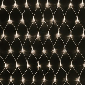 Гирлянда «Сеть» 2х1,5м, свечение с динамикой, прозрачный ПВХ, 288 LED, 230 В, цвет: Тёплый белый
