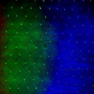 """Гирлянда """"Сеть"""" 1х1,5м, черный ПВХ, 160 LED Мультиколор"""