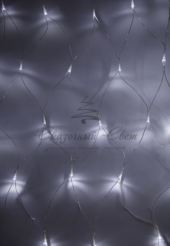 "Гирлянда ""Сеть"" 1,5х1,5м, прозрачный ПВХ, 150 LED Белые 3"