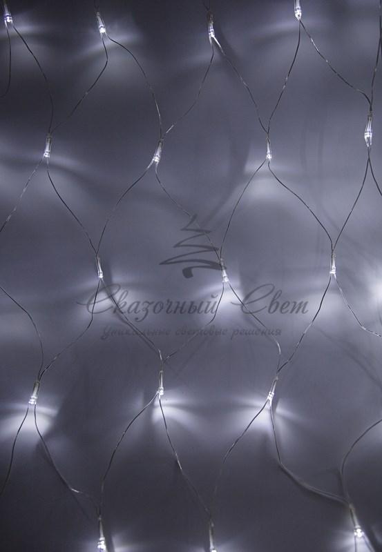 "Гирлянда ""Сеть"" 1,8х1,5м, прозрачный ПВХ, 180 LED Белые 3"