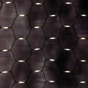 Гирлянда «Сеть» 2×1,5м, черный КАУЧУК, 288 LED Тепло-Белые