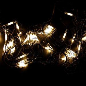 Гирлянда «Сеть» 2×3м, черный КАУЧУК, 432 LED Тепло-белые