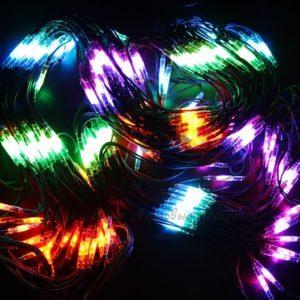 """Гирлянда """"Сеть"""" 2×3м, черный КАУЧУК, 432 LED Мультиколор"""