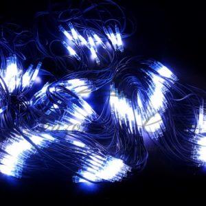 Гирлянда «Сеть» 2×4м, черный КАУЧУК, 560 LED Белые/Синие