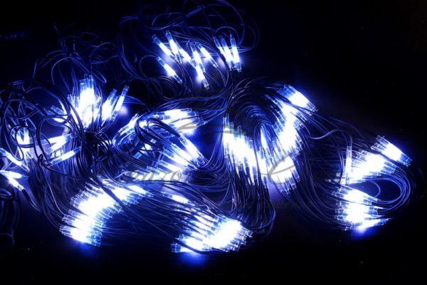 """Гирлянда """"Сеть"""" 2x4м, черный КАУЧУК, 560 LED Белые/Синие"""