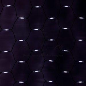 Гирлянда «Сеть» 2×4м, черный КАУЧУК, 560 LED Белые