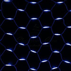 Гирлянда «Сеть» 2×3м, белый КАУЧУК, 432 LED Белые/Синие