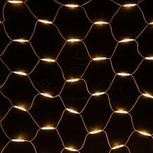 Гирлянда «Сеть» 2×3м, белый КАУЧУК, 432 LED Тепло-белые