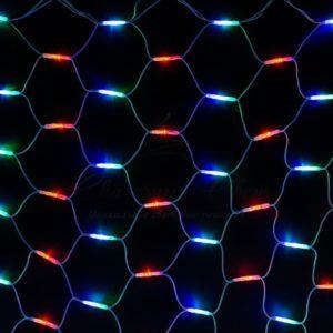 Гирлянда «Сеть» 2×3м, белый КАУЧУК, 432 LED Мультиколор