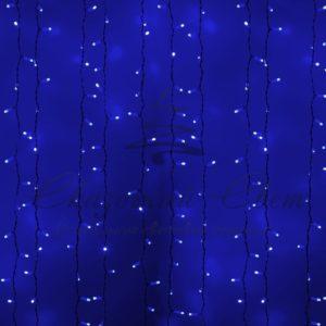 Гирлянда «Светодиодный Дождь» 2х1,5м, постоянное свечение, белый провод, 230 В, диоды СИНИЕ, 360 LED
