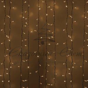 Гирлянда «Светодиодный Дождь»  2х1,5м, постоянное свечение, белый провод, 230 В, диоды ТЁПЛО-БЕЛЫЕ, 360 LED