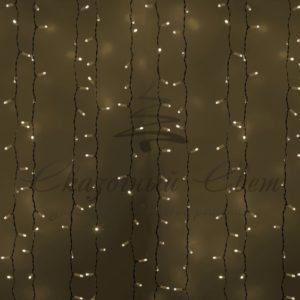 Гирлянда «Светодиодный Дождь» 2х3м, постоянное свечение, белый провод, 230 В, диоды БЕЛЫЕ, 760 LED