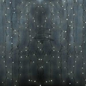 Гирлянда «Светодиодный Дождь» 2х3м, постоянное свечение, прозрачный провод, 230 В, диоды МУЛЬТИ, 448 LED NEON-NIGHT