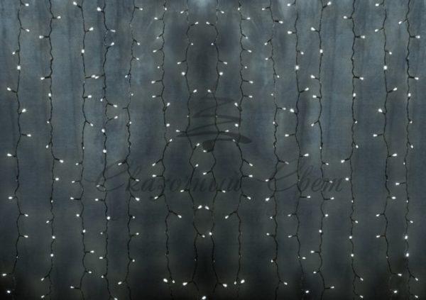 """Гирлянда """"Светодиодный Дождь"""" 2х3м, постоянное свечение, прозрачный провод, 230 В, диоды МУЛЬТИ, 448 LED NEON-NIGHT"""