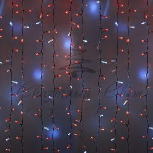 Гирлянда «Светодиодный Дождь» 2х3м, эффект мерцания, белый провод, 230 В, диоды КРАСНЫЕ, 760 LED
