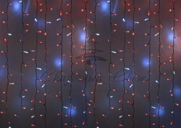 """Гирлянда """"Светодиодный Дождь"""" 2х1,5м, эффект мерцания, белый провод, 230 В, диоды КРАСНЫЕ, 360 LED"""