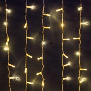 Гирлянда «Светодиодный Дождь» 2х1,5м, постоянное свечение, прозрачный провод, 230 В, цвет: Золото, 360 LED