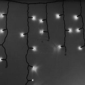 Гирлянда Айсикл (бахрома) светодиодный, 4,8 х 0,6 м, черный провод, 230 В, диоды белые,  176 LED NEON-NIGHT