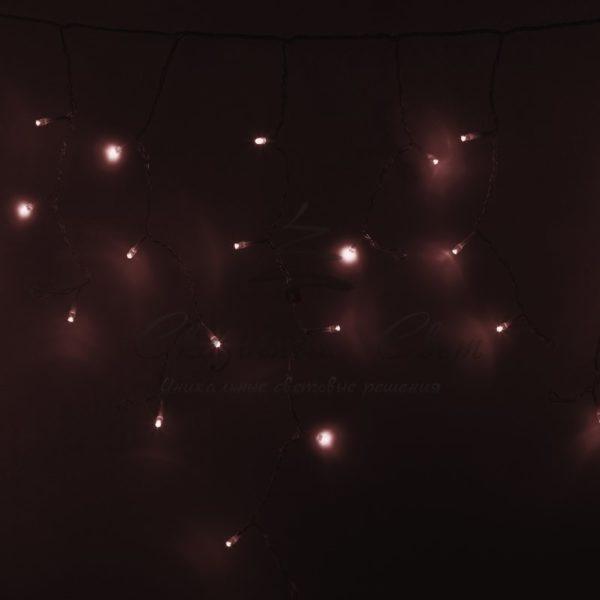 Гирлянда Айсикл светодиодный, 4,8 х 0,6 м, прозрачный провод, 230 В, цвет: Розовое золото,  176 LED