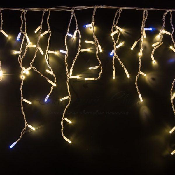 "Гирлянда ""Айсикл"" 4,8х0,6 м, с эффектом мерцания, белый ПВХ, 176LED, цвет: Тёплый белый, 220В 3"