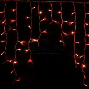 Гирлянда Айсикл (бахрома) светодиодный, 5,6 х 0,9 м, белый провод «КАУЧУК», 230 В, диоды красные, 240 LED NEON-NIGHT