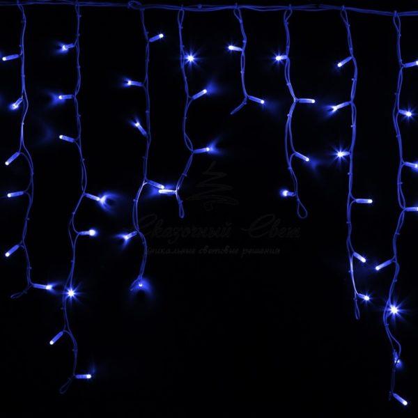 """Гирлянда Айсикл (бахрома) светодиодный, 5,6 х 0,9 м, белый провод """"КАУЧУК"""", 230 В, диоды синие, 240 LED NEON-NIGHT"""
