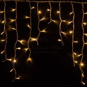 Гирлянда Айсикл (бахрома) светодиодный, 5,6 х 0,9 м, белый провод «КАУЧУК», 230 В, диоды тепло-белые, 240 LED NEON-NIGHT