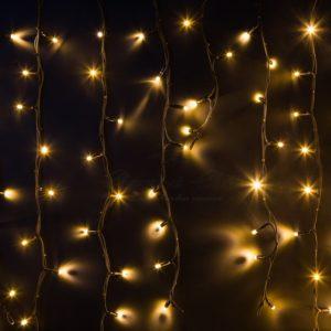 Гирлянда Айсикл (бахрома) светодиодный, 6,0 х 1,5 м, черный провод «КАУЧУК», 230 В, диоды тепло-белые, 480 LED NEON-NIGHT