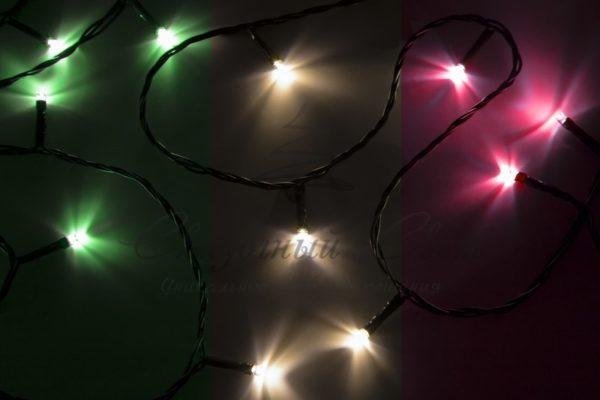 "Гирлянда ""Твинкл Лайт"" 4 м, темно-зеленый ПВХ, 25 LED, цвет мультиколор 2"