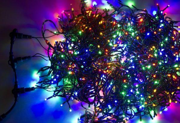 """Гирлянда """"LED ClipLight"""" 24V, 3 нити по 10 метров, цвет диодов Мульти 2"""